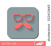 mustache and glasses. hipster... | Shutterstock .eps vector #322413665