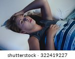 sleep disorder  insomnia. young ... | Shutterstock . vector #322419227