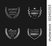 gambling games award symbols.... | Shutterstock .eps vector #322421315