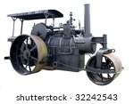 Vintage Steam Roller Isolated...