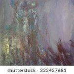 Flowed Paint On Canvas....
