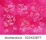 set of signs on wedding theme...   Shutterstock .eps vector #322432877