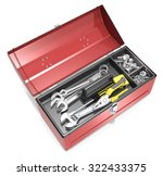 toolbox and tools. top view of... | Shutterstock . vector #322433375