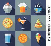 modern food and drink flat... | Shutterstock .eps vector #322438769