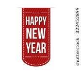 happy new year banner design... | Shutterstock .eps vector #322452899