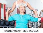 Senior Women With Fitness...