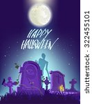 happy halloween poster  vector... | Shutterstock .eps vector #322455101