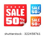 sale 50  off stickers | Shutterstock .eps vector #322458761