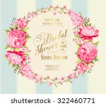 awesome vintage label of color... | Shutterstock .eps vector #322460771