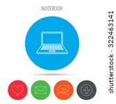 notebook icon. mobile laptop... | Shutterstock .eps vector #322463141