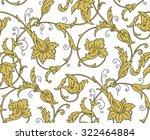 luxury golden seamless... | Shutterstock .eps vector #322464884
