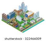 isometric city map. vector...   Shutterstock .eps vector #322466009