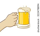 hand holding a big glass of... | Shutterstock .eps vector #322478894