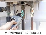 Plumber Tightens The Copper Gas ...