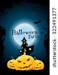 grungy halloween party... | Shutterstock .eps vector #322491377