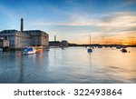 Sunset at the Royal William Yard at Stonehouse in Plymouth