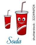 cartoon cute cola or soda... | Shutterstock . vector #322496924