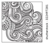 pattern for coloring book.... | Shutterstock .eps vector #322497281