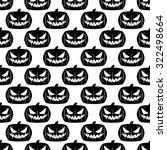 seamless halloween design... | Shutterstock .eps vector #322498664