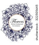 vintage delicate invitation... | Shutterstock .eps vector #322505645