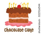 happy birth day chocolate cake | Shutterstock .eps vector #322516544