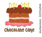 happy birth day chocolate cake   Shutterstock .eps vector #322516544
