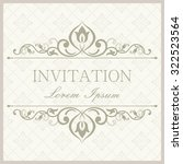 retro invitation or wedding... | Shutterstock .eps vector #322523564