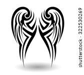 hand drawn tribal tattoo in... | Shutterstock . vector #322530269