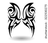 hand drawn tribal tattoo in... | Shutterstock . vector #322530275