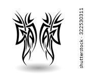 hand drawn tribal tattoo in... | Shutterstock . vector #322530311