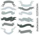 vector set of ribbons for your... | Shutterstock .eps vector #322530644