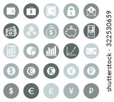 vector set of finance icons | Shutterstock .eps vector #322530659