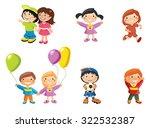 illustration  girls and boys ... | Shutterstock . vector #322532387