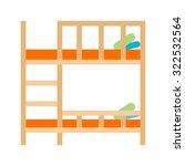 bunk  beds  bedroom icon vector ... | Shutterstock .eps vector #322532564