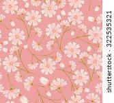 Seamless Daisy Flower Pattern...