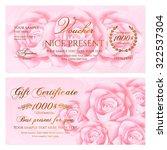 gift certificate  voucher ... | Shutterstock .eps vector #322537304