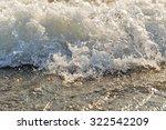 Sea Surf At High Tide. Summer...