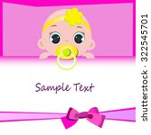 baby girl with place for your...   Shutterstock .eps vector #322545701