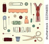 items for needlework   vector... | Shutterstock .eps vector #322546001