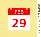 red calendar icon   feb 29 | Shutterstock .eps vector #322548101