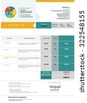 blue invoice template design | Shutterstock .eps vector #322548155