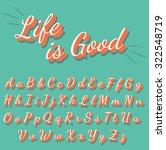 calligraphy retro alphabet... | Shutterstock .eps vector #322548719