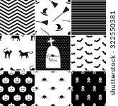 set of halloween seamless... | Shutterstock .eps vector #322550381