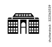museum   icon | Shutterstock .eps vector #322563539