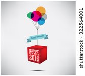 happy new year 2016 | Shutterstock .eps vector #322564001
