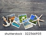 seaside snapshots  anchor and...   Shutterstock . vector #322566935