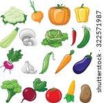 cartoon vegetables | Shutterstock .eps vector #322571987