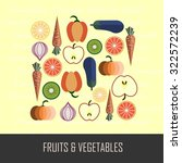 fruits   vegetables vector... | Shutterstock .eps vector #322572239