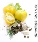 yellow tomato and spice | Shutterstock . vector #32257345