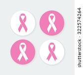 set of pink ribbons symbols for ... | Shutterstock .eps vector #322574264